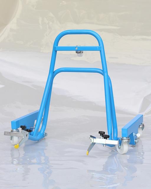 移動式レーシングスタンド「Garage Revo」ブルー