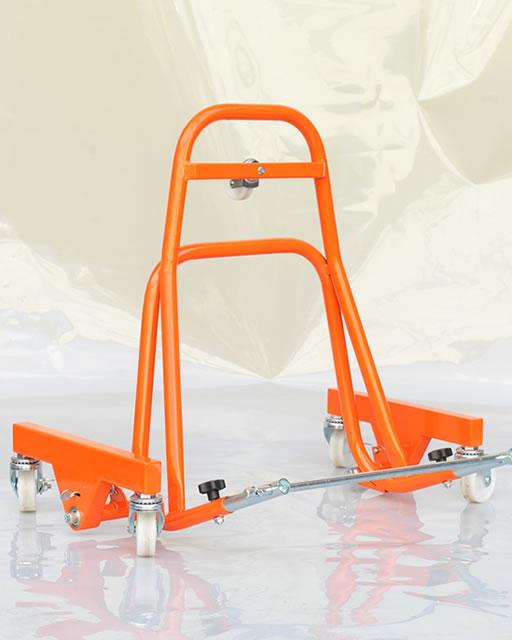 移動式レーシングスタンド「Garage Revo」オレンジ