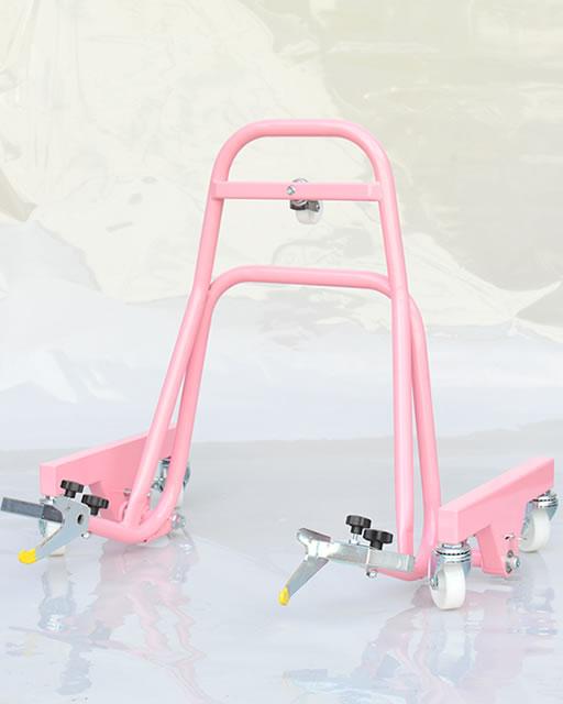 移動式レーシングスタンド「Garage Revo」ピンク
